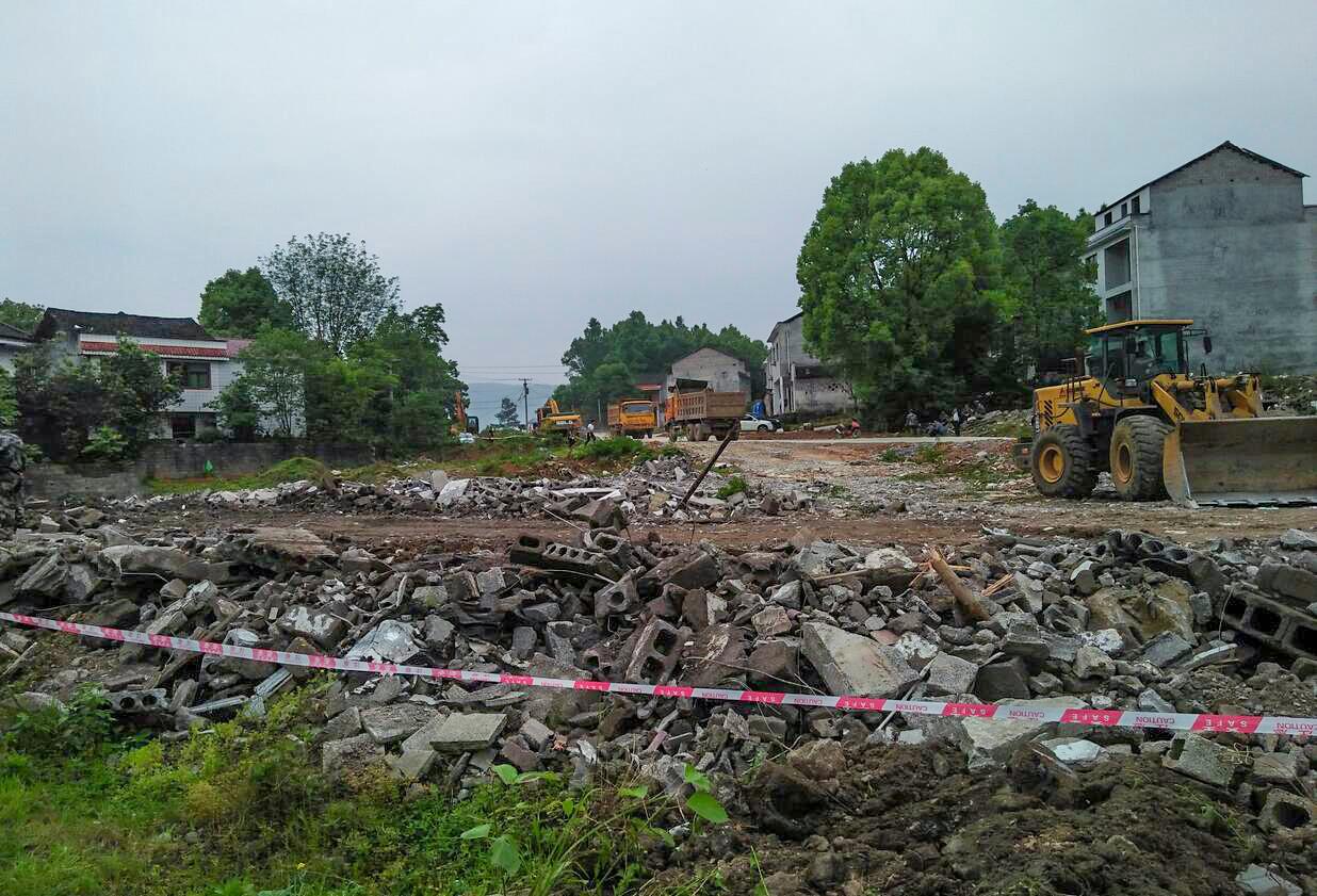乌杨对两园大道园区段施工现场作业保护